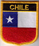 Chile Embroidered Flag Patch, style 07.